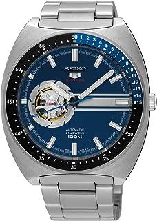 Seiko 5 Retro Open Heart Blue Dial Automatic Mens Watch SSA327