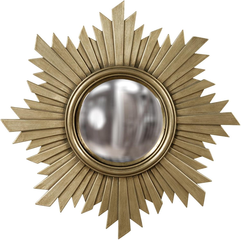 Howard Elliott 51268 Euphoria Mirror, Brushed Nickel with Warm gold Tones