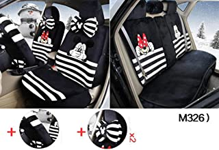 Maimai88 1 Sets The New Plush Cartoon Car Seat Cover The Front and Rear Universal Seat Covers (M328) (M326)