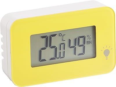 エンペックス (EMPEX) 温度計・湿度計 イエロー 52×34×15mm シュクレ・イルミー、イエロー TD-8334