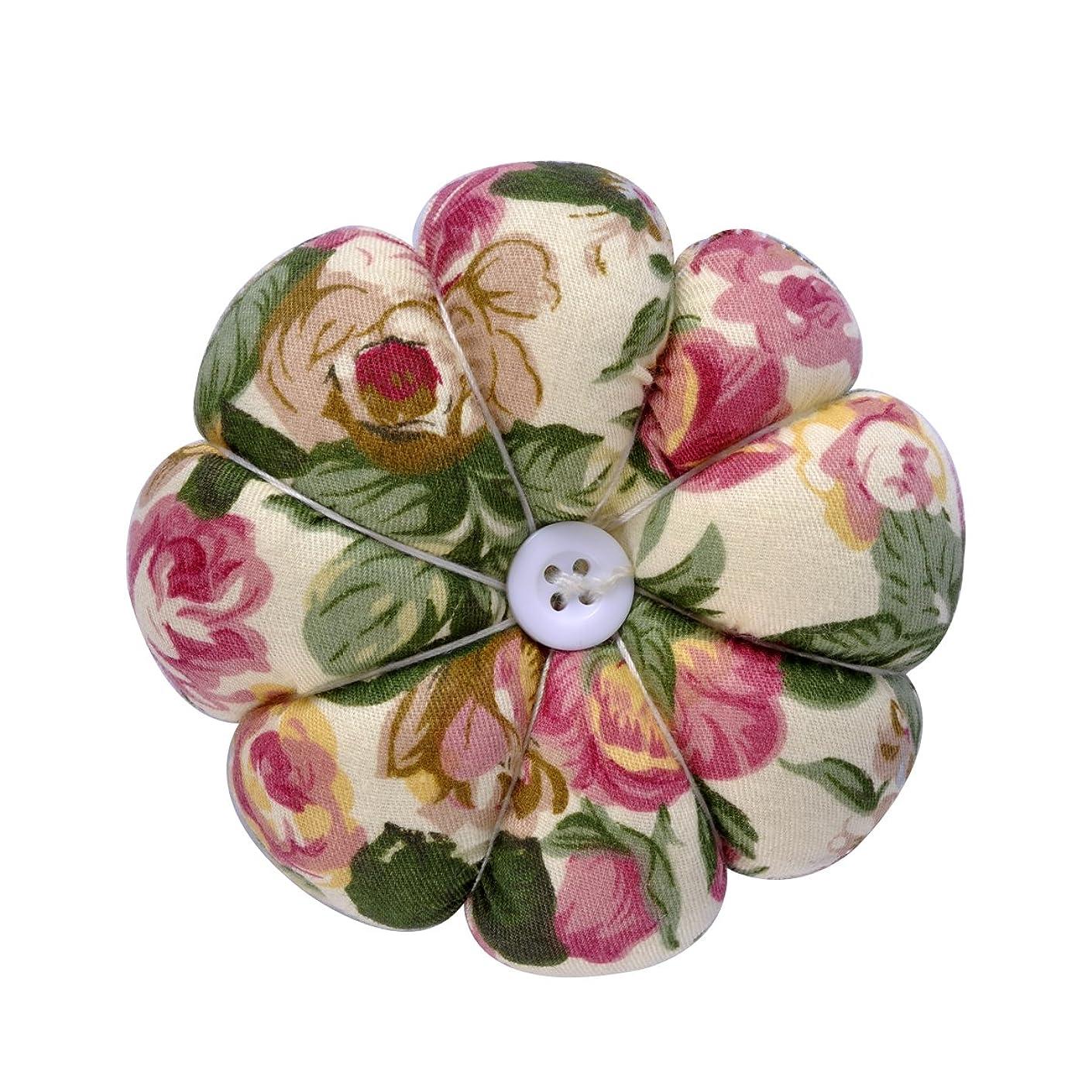eZAKKA Pin Cushion Polka Pumpkin Wrist Pin Cushions Wearable Needle Pincushions for Sewing Quilting Pins Holder (Flowers)