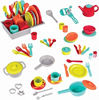Battat – Deluxe Kitchen – Pretend Play Accessory Toy Set (71 Pieces Including..
