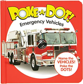 Melissa and Doug MD31355 Poke-A-Dot! Emergency Vehicles Board Book