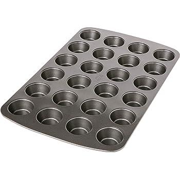 Birkmann Easy Baking 881112  Stampo per 24 Mini Muffin, Metallo, Grigio