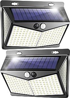 Solar Security Light Outdoor Motion Sensor Wall Lights 208 LED IP65 Waterproof Super Bright Wide Angle Solar Sensor Lights...