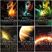 Peter F Hamilton Collection Void Trilogy and Nights Dawn Trilogy Series 6 Books Set (The Dreaming Void, The Temporal Void, Evolutionary Void, Reality Dysfunction, Neutronium Alchemist, Naked God)