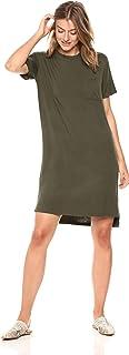 Daily Ritual Womens Jersey Short-Sleeve Boxy Pocket T-Shirt Dress