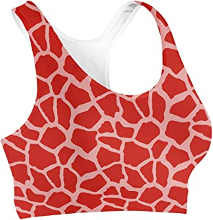 Rainbow Rules Bright Giraffe Print Sports Bra
