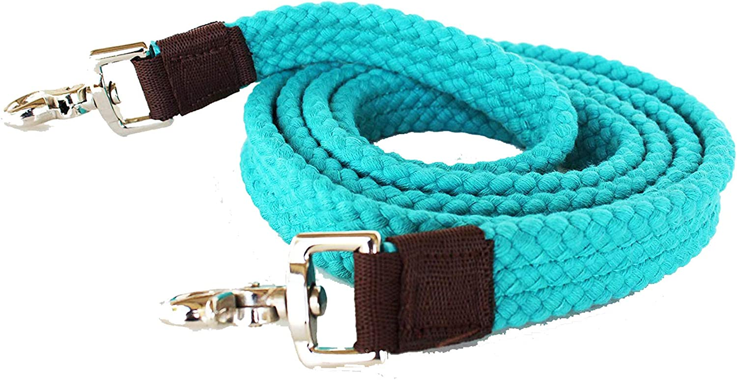 Roping Translated Knotted Horse Western Barrel Snaps Reins Braided 2 Popular Nylon