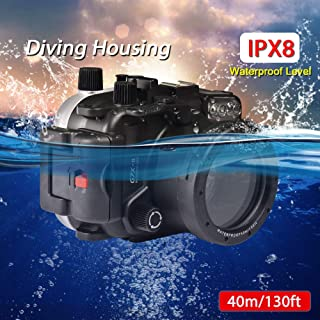 Sea frogs for Canon G7X Mark II 40m/130ft Underwater Housing Camera Diving Waterproof Housing case