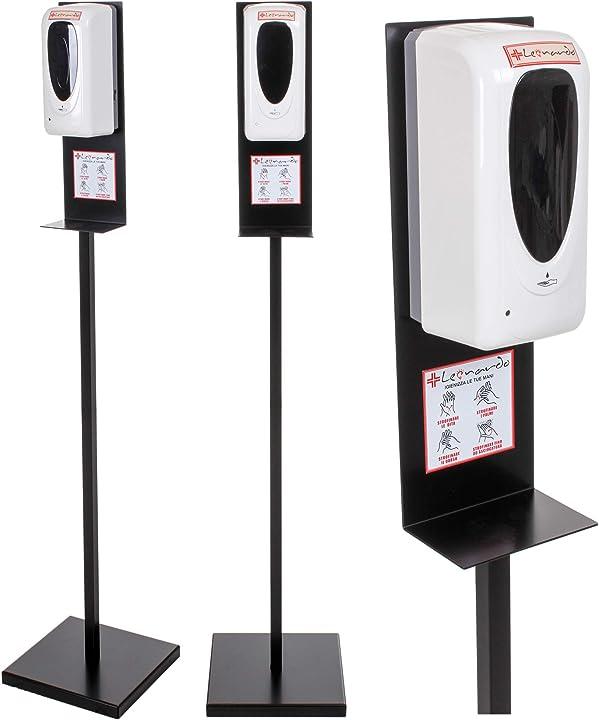 Igienizzante mani per negozi piantana automatica con dispenser/distributore 150x30x30 cm B08K3CQXG3