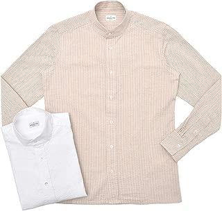 [バグッタ] ウォッシュドコットンシアサッカーバンドカラーシャツ MYKONOS GL/09063 11091005054