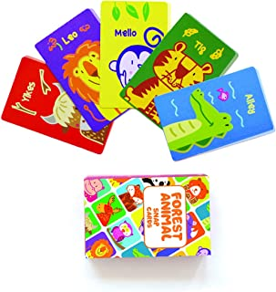 Shumee Animals Matching Snap Card Game for Toddlers, Kids, Preschoolers(3 Years +) - 52 Cards Fun Educational Game for Fam...