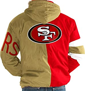 San Francisco 49ers Niners NFL Men's Starter Knockdown Full Zip Hooded Jacket (S) Gold