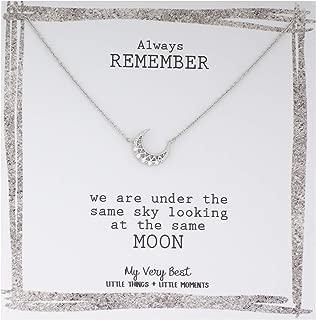 My Very Best Delicate Feminine Crescent Moon Necklace