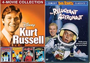 Don Russell Kurt Knotts Film Collection Strongest Man in World / Computer Wore Tennis Shoes / Horse in the Grey Flannel / Now You See Him Disney + Reluctant Astronaut Comedy 5 Family DVD Movie Pack