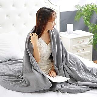 MaxKare Electric Heated Blanket Twin Size 62'' x 84'' Polar Fleece Full Body Warming Premium Microfiber Sofa Blankets with...