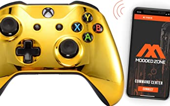 Gold Smart Rapid Fire Custom Modded Controller for Xbox One S Mods FPS Games and More. Control and Simply Adjust Your mods...