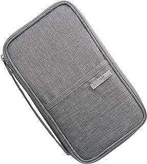 Multifunction Convenient and Practical Travel Wallet RFID Blocking Document Organizer Bag, Family Passport Holder