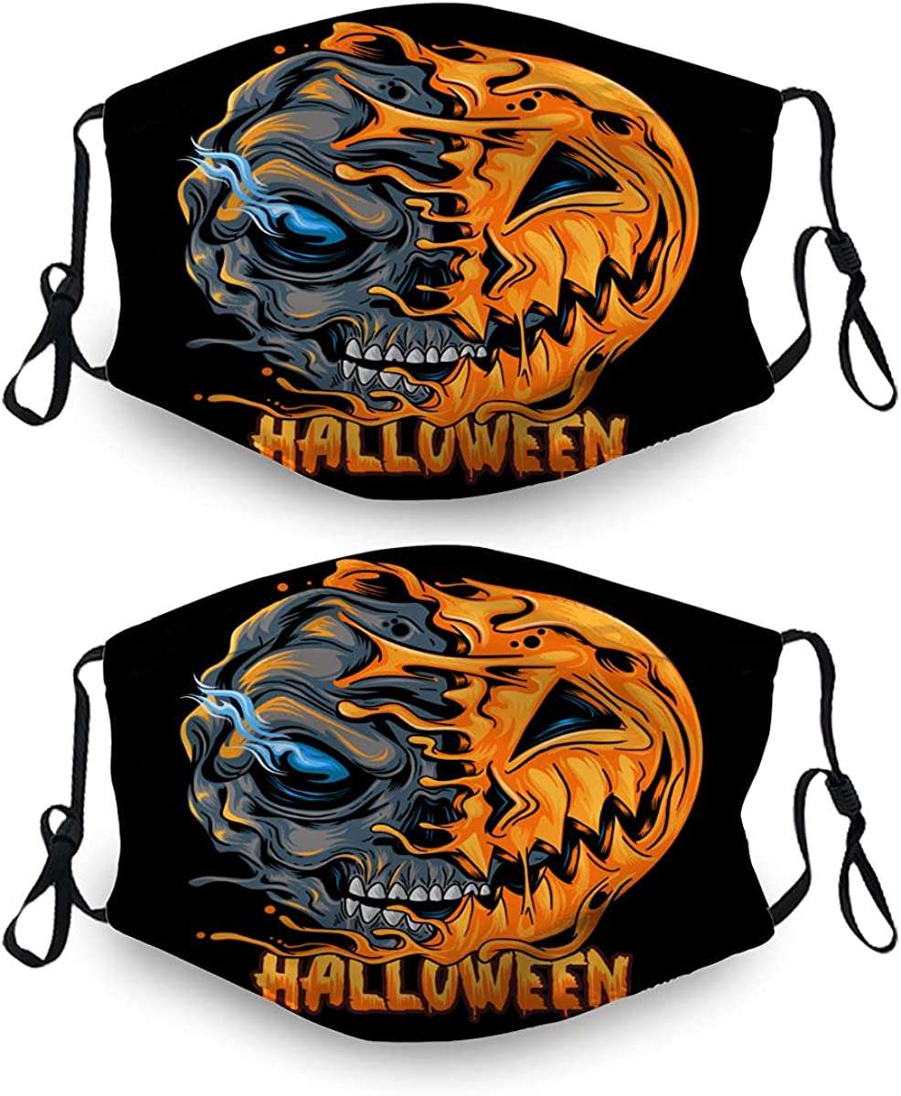 Halloween Ma-Sk Washable Dust Mail order Mask Reusable Max 87% OFF Sets Filter 4 2 with