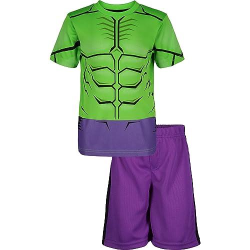 Marvel Hulk T-Shirt and Shorts Set for Boys Multi