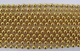 Mardi Gras Spot 33 inch 07mm Round Metallic Gold Mardi Gras Beads - 6 Dozen (72 necklaces)