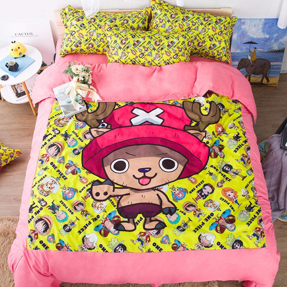 Anime One Indianapolis Mall Piece Quilt security Pattern Bedding is Cover Light a Set