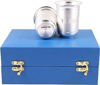 Msa Jewels 92.5 Hallmark Certified Silver Glass Set (6.25 x 5 cm, 58 GM)
