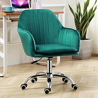 Sillas de escritorio de oficina Silla ergonómica para oficina en casa, silla giratoria de terciopelo con ajuste de elevación, silla de tocador para sala de estar de oficina en casa Sillas Gaming