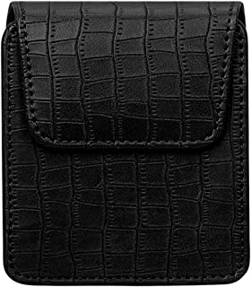 WWW Galaxy Z Flip Case,[Crocodile Pattern] Premium PU Leather Phone Case Cover Pouch with Magnetic Closure for Samsung Gal...
