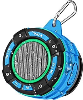 Enceinte Bluetooth de Douche Portable, BassPal Haut-Parleur Bluetooth IPX7 étanche Avec son HD Fort, Spectacle de Lumière,...