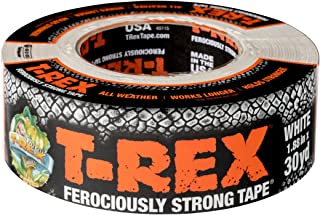 T-REX Ferociously Strong Tape, Duct Tape with UV Resistant & Waterproof Backing for Wood Brick Concrete and More, 30 yd. x...