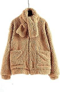 Surprise S Teddy Coat Women Casual Plus Size Slim Thick Warm Jacket Female Zipper Outerwear