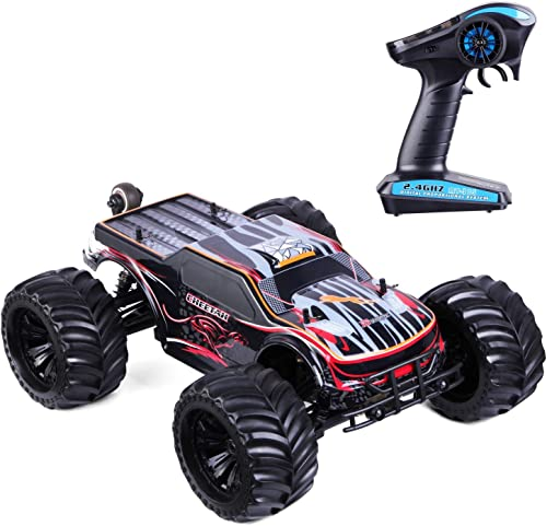LSQR Fast RC Cars 1 10 Scale High Speed RC Trucks 80KM H 4WD 2.4GHZ Off Road RC Trucks (RTR) Fernbedienungs-Autos für Erwachsene mit 120A ESC Waterproof Racing