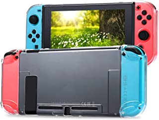 Tasikar Dockable Protective Case Compatible with Nintendo Switch Separable Crystal Clear Case Compatible with Nintendo Swi...