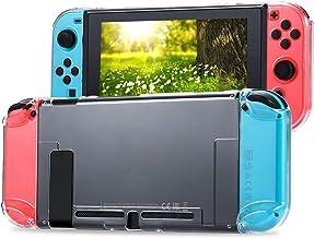 Tasikar Dockbart skyddsfodral kompatibelt med Nintendo Switch separerbart kristallklart skyddsfodral kompatibelt med Ninte...