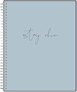"""Blue Sky Stay Chic 2020 Weekly & Monthly, Flexible Cover, Twin-Wire Bound, 8"""" x 10"""", Chic Blue, Model: 117418"""