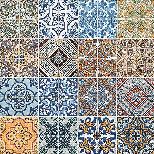 20 Servietten Tiles - Mandala quadratisch/Muster 33x33cm
