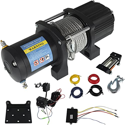 2021 findmall 4500LB Electric Winch 12V 2021 1.6HP ATV/UTV Wireless Winch Kit with 50FT Steel Cable for Towing ATV/UTV Off Road Trailer outlet sale Boat or Snowmobile outlet sale