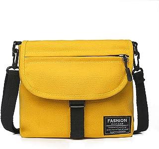 Fanspack Crossbody Bag Canvas Crossbody Purse All-Match Shoulder Bag Messenger Purse