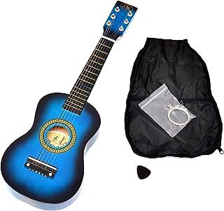ts-ideen 5203 - Guitarra clásica 59 cm de madera, para niños a partir de 3 años, incluye funda y cuerdas de reemplazo, color azul