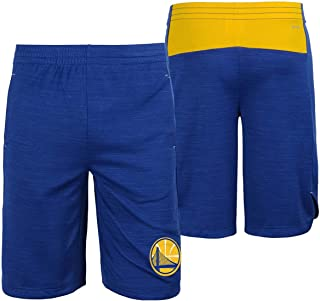 Outerstuff Golden State Warriors NBA Youth Free Throw Shorts Blue