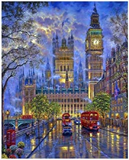1000 Pieces of Adult Puzzle Wooden Jigsaw Classic 3D Jigsaw Shipment London Big Ben Scenery DIY Home Decoration