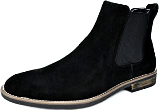 Bruno Marc Men's Urban-06 Suede Leather Chelsea Ankle Boots