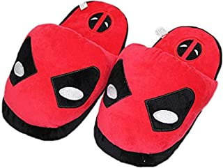 WEIR Niños Zapatillas de Invierno Niños Dibujos Animados Superhéroe Invierno Cálido Felpa Zapatos de Interior, Deadpool-36...