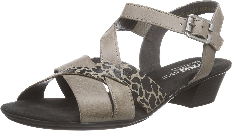 Rieker Women Sandals DA-Sandale Grey, (Elefant EL) 68358-42