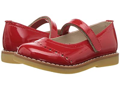 Elephantito Martina Flats (Toddler/Little Kid/Big Kid) (Patent Red) Girls Shoes