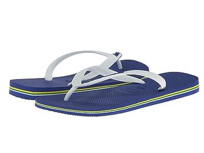 Havaianas Brazil Logo Flip Flops (Marine Blue) Men