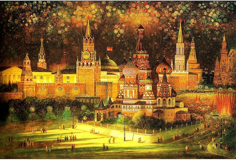 Puzzle House- Holzpuzzle, Weihnachtsnacht von Fantasy Castle, 500 1000 1500 Puzzles Spiel für Erwachsene & Kinder Dekorative Malerei -403 (größe   500pc) B07Q65NLV6 Zuverlässige Leistung  | Auktion