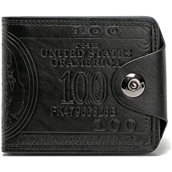 CH Mens US Dollar Wallet Bill Money Bifold Safe Purse With Magnetic Buckle